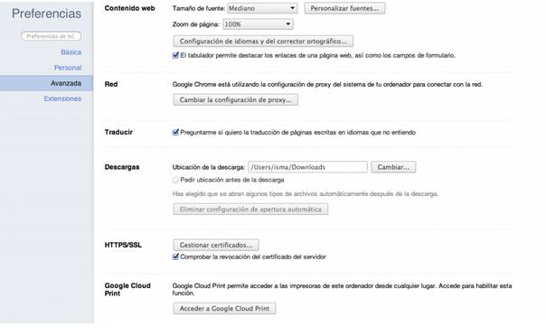 Configuración Google Cloud Print