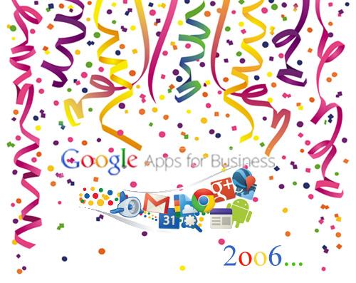 Feliz cumpleaños Google Apps