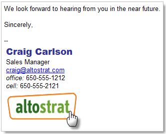 Correo Gmail con firma personalizada
