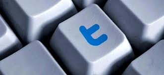 Tecla con logo de twitter