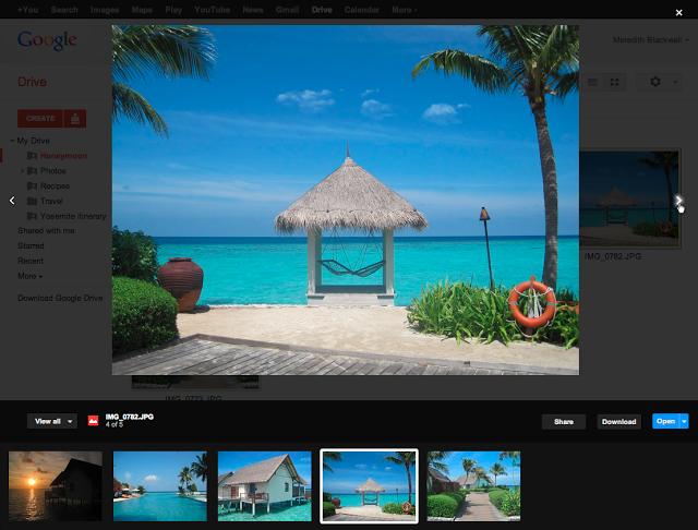 Vista previa de imágenes en Google Drive