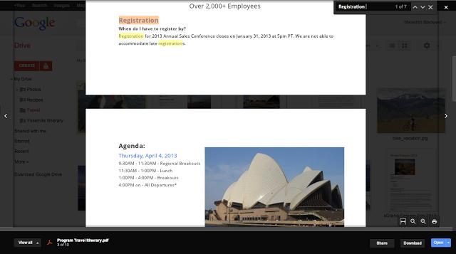 Selecciona y copia texto en la vista previa de Google Drive